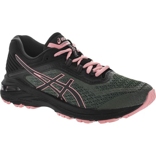 ASICS GT-2000 6 Trail: ASICS Women's Running Shoes Four Leaf Clover/Black/Coral Cloud