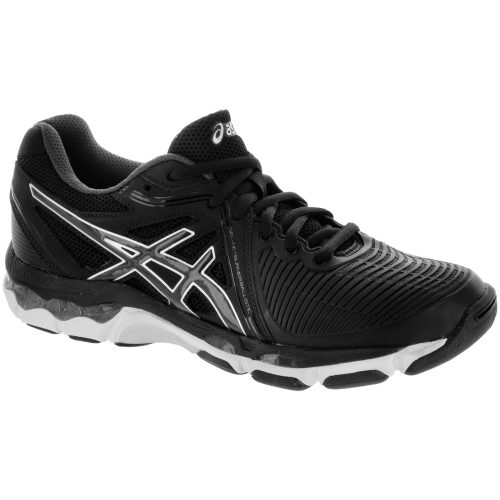 ASICS Gel-Netburner Ballistic: ASICS Women's Indoor, Squash, Racquetball Shoes Black/Dark Grey/Silver