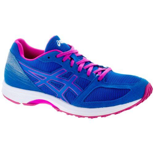 ASICS Lyteracer TS 7: ASICS Women's Running Shoes Directoire Blue/White/Pink Glow