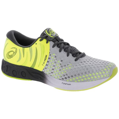 ASICS Noosa FF 2: ASICS Men's Running Shoes Glacier Grey/Dark Grey/Safety Yellow