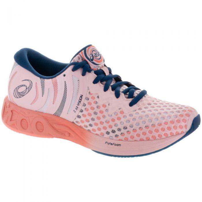ASICS Noosa FF 2: ASICS Women's Running Shoes Seashell Pink/Dark Blue/Begonia Pink