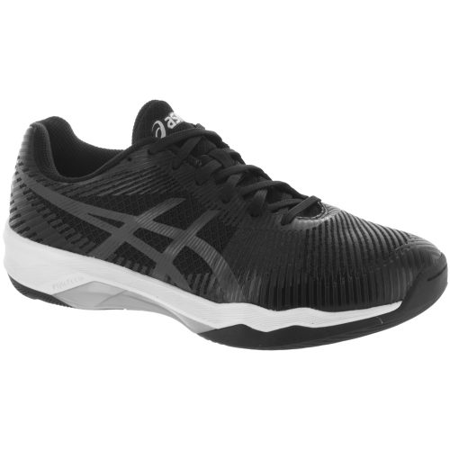 ASICS Volley Elite FF: ASICS Women's Indoor, Squash, Racquetball Shoes Black/Dark Grey/White