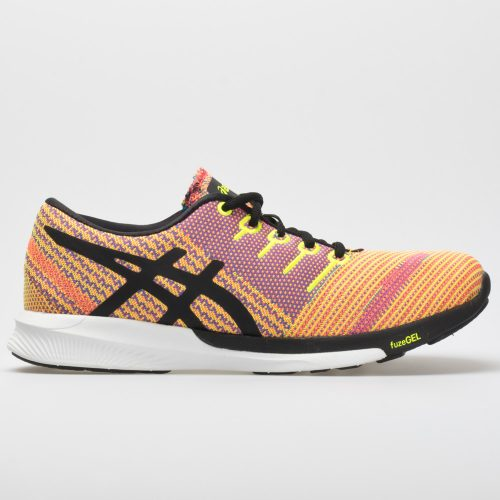 ASICS fuzeX Knit: ASICS Women's Running Shoes Flash Coral/Black/Safety Yellow