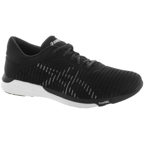 ASICS fuzeX Rush Adapt: ASICS Women's Running Shoes Black/White/Dark Grey