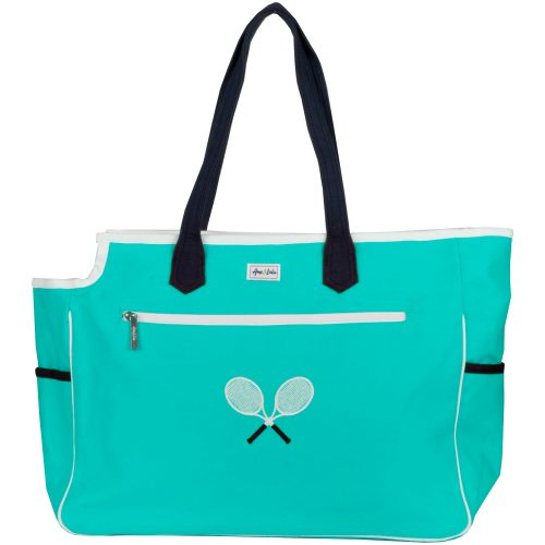 Ame & Lulu Kensington Crossed Racquet Court Bag: Ame & Lulu Tennis Bags