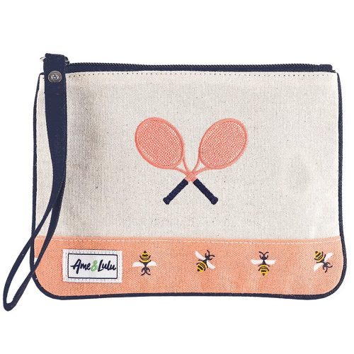 Ame & Lulu Tennis Lover Wristlet: Ame & Lulu Tennis Gifts & Novelties