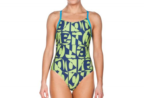 Arena Gallery Light Drop Back One Piece - Women's - navy/leaf, 30
