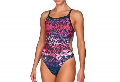 Arena Ombre Challenge Back One Piece - Women's - pink/black, 36