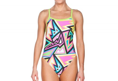 Arena Tulum Challenge Back One Piece - Women's - black/leaf, 30