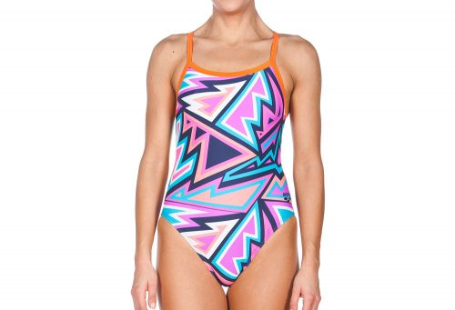 Arena Tulum Challenge Back One Piece - Women's - navy/mango, 30
