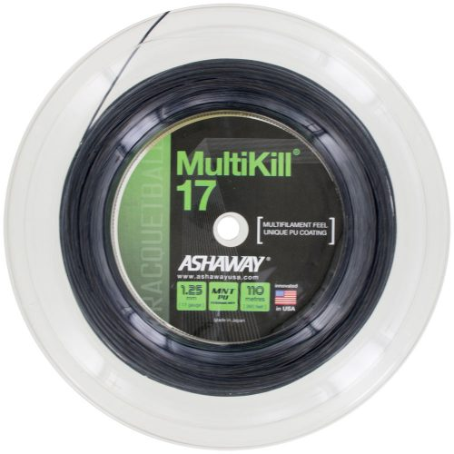 Ashaway MultiKill 17 Black 360' Reel: Ashaway Racquetball String Packages