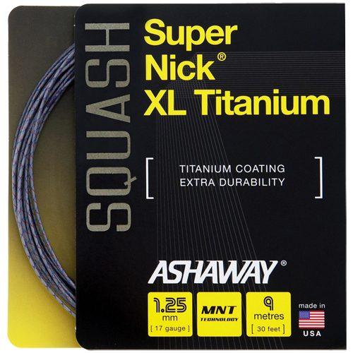 Ashaway SuperNick XL Titanium Squash: Ashaway Squash String Packages