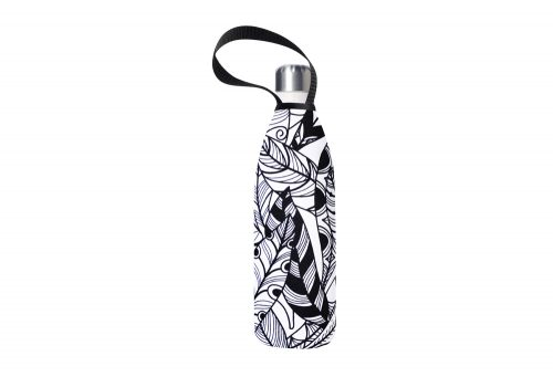 BBBYO Future Bottle+ Carry Cover - 750 ml - white feather print/whitesand, 750ml