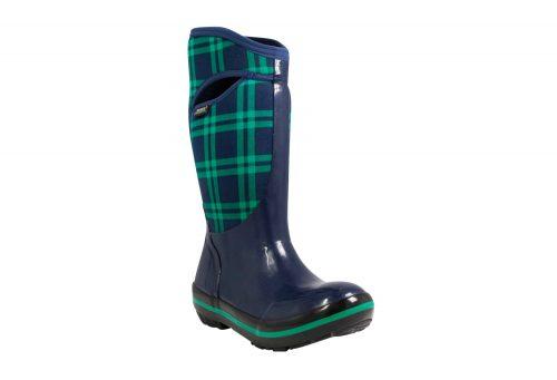 BOGS Plimsoll Plaid Tall Boots - Women's - dark blue, 6