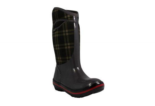 BOGS Plimsoll Plaid Tall Boots - Women's - dark gray, 7