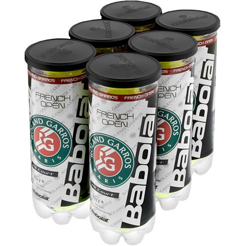 Babolat French Open All Court 6 Cans: Babolat Tennis Balls
