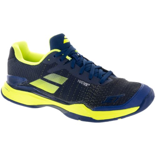 Babolat Jet Mach II: Babolat Men's Tennis Shoes Estate Blue/Fluo Yellow