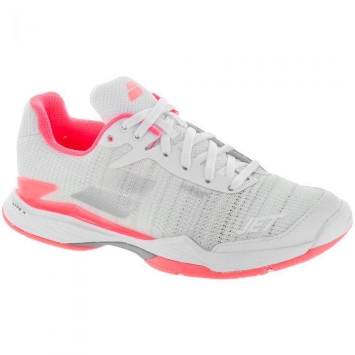 Babolat Jet Mach II: Babolat Women's Tennis Shoes White/Fluo Pink