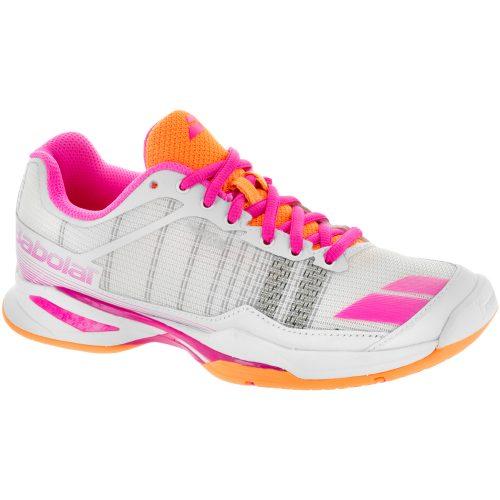 Babolat Jet Team: Babolat Women's Tennis Shoes White/Orange/Pink