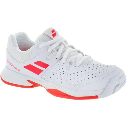 Babolat Pulsion Junior White/Bright Red: Babolat Junior Tennis Shoes