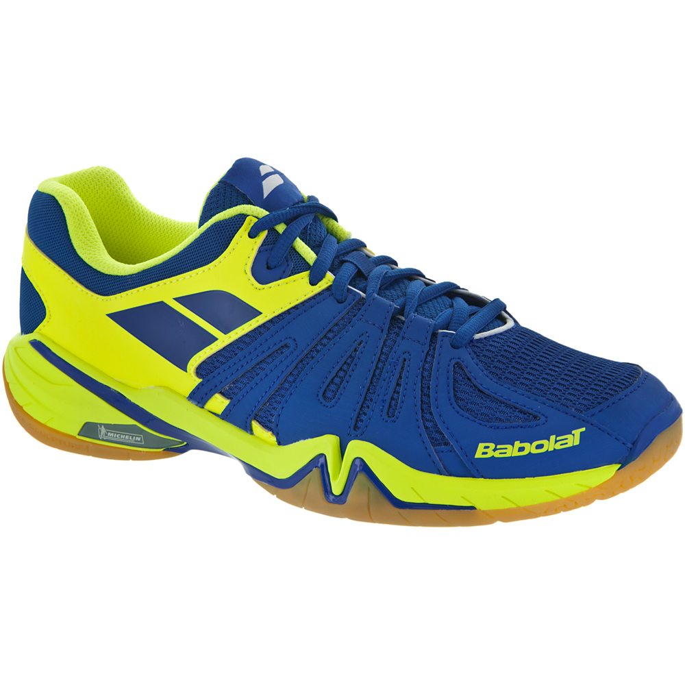 Babolat Shadow Spirit: Babolat Men's Indoor, Squash, Racquetball Shoes Blue/Yellow
