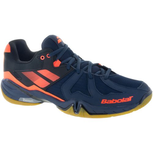 Babolat Shadow Spirit: Babolat Men's Indoor, Squash, Racquetball Shoes Navy Blue/Orange Fluo