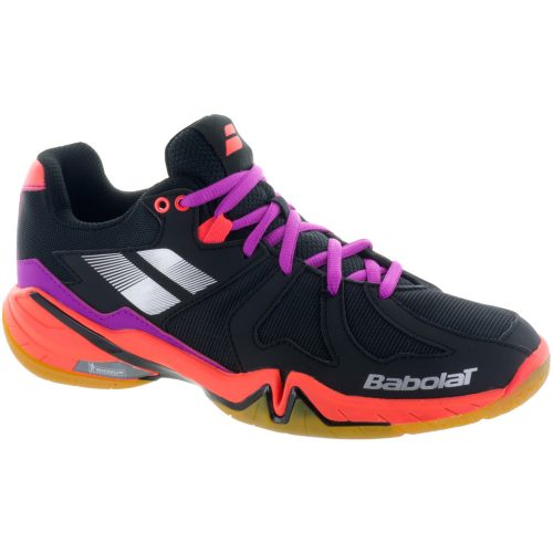 Babolat Shadow Spirit: Babolat Women's Indoor, Squash, Racquetball Shoes Black/Purple/Pink