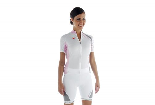 Biemme Strips Cycling Jersey - Women's - white/pink, medium