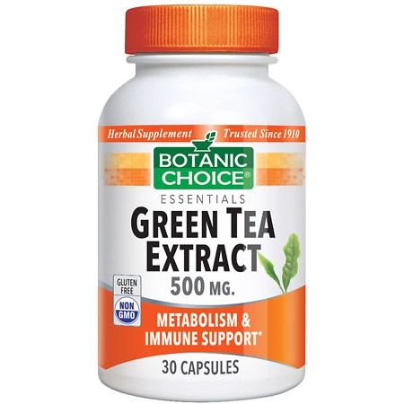 Botanic Choice Green Tea Extract 500 mg Herbal Supplement Capsules - 30 ea.