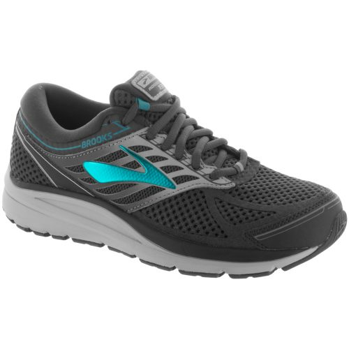 Brooks Addiction 13: Brooks Women's Running Shoes Ebony/Silver/Pagoda Blue