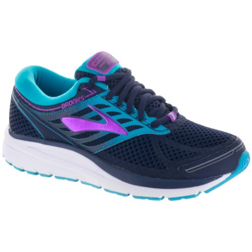 Brooks Addiction 13: Brooks Women's Running Shoes Evening Blue/Teal Victory/Purple Cactus