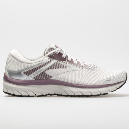 Brooks Adrenaline GTS 18: Brooks Women's Running Shoes White/Purple/Grey