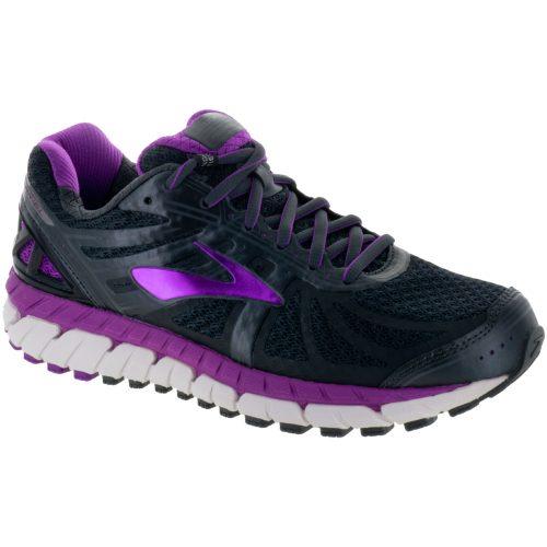 Brooks Ariel 16: Brooks Women's Running Shoes Anthracite/Purple Cactus Flower/Primer Gray