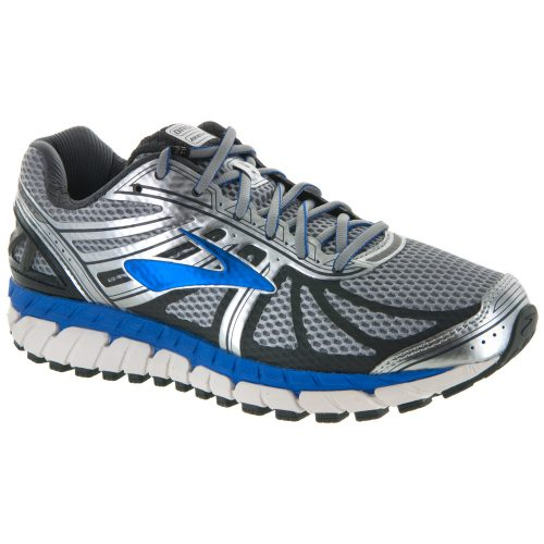 Brooks Beast 16: Brooks Men's Running Shoes Silver/Electric Brooks Blue/Ebony