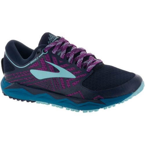 Brooks Caldera 2: Brooks Women's Running Shoes Navy/Plum/Ice Blue