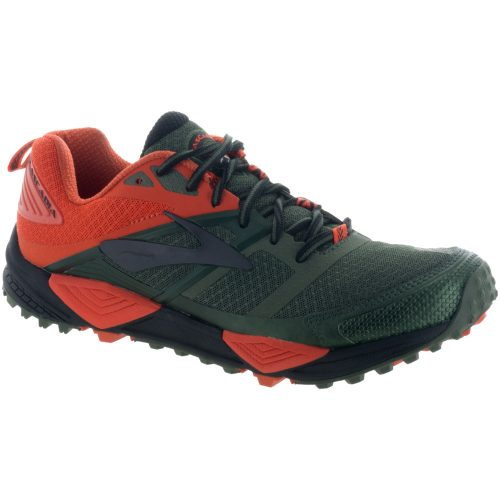 Brooks Cascadia 12: Brooks Men's Running Shoes Green/Orange/Black