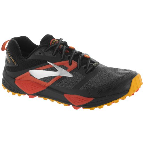 Brooks Cascadia 12 GTX: Brooks Men's Running Shoes Black/Ebony/Cherry Tomato