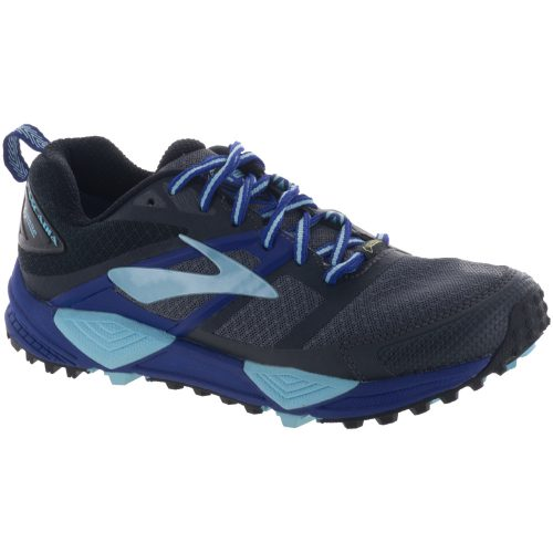 Brooks Cascadia 12 GTX: Brooks Women's Running Shoes Black/Ebony/Clematis Blue