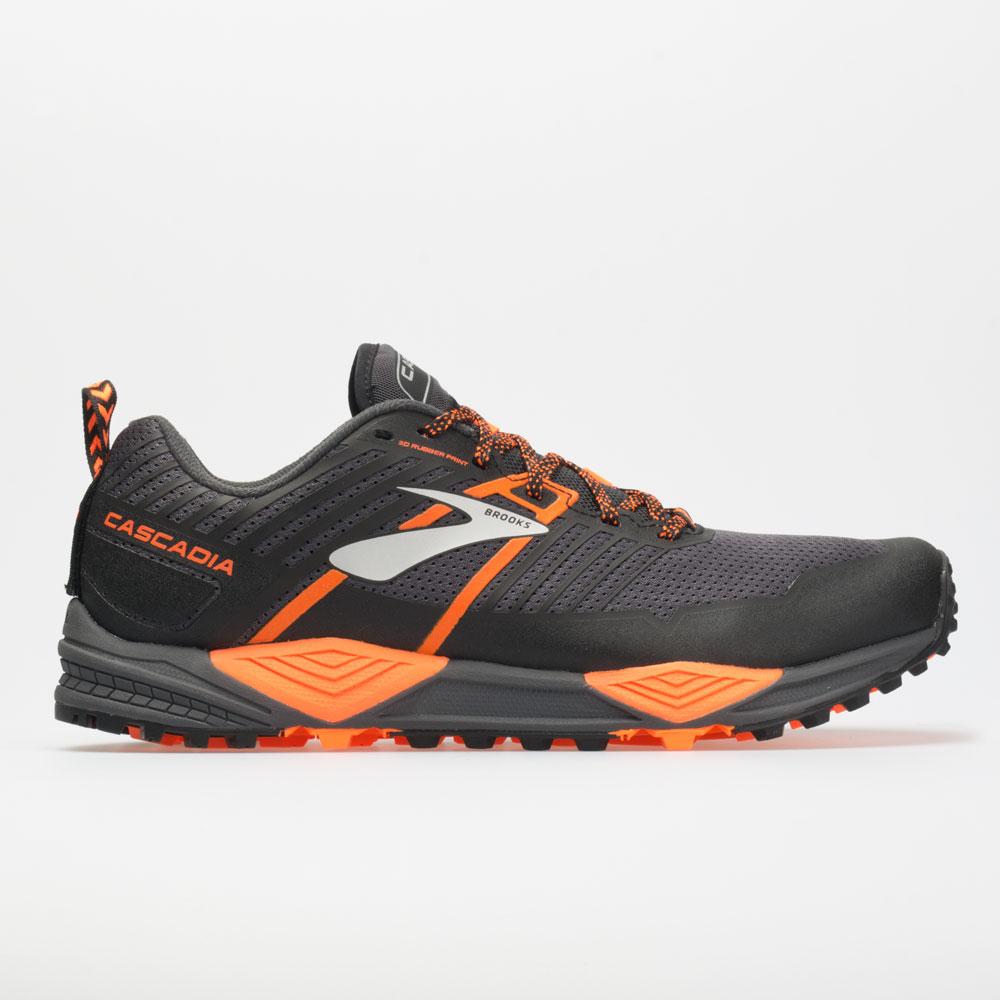 Brooks Cascadia 13: Brooks Men's Running Shoes Grey/Black/Orange