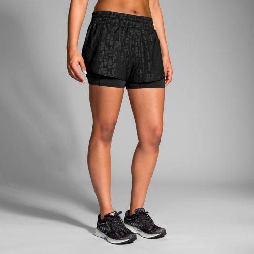 "Brooks Circuit 3"" 2-in-1 Shorts: Brooks Women's Running Apparel"