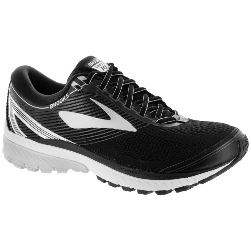 Brooks Ghost 10: Brooks Men's Running Shoes Black/Silver/Ebony