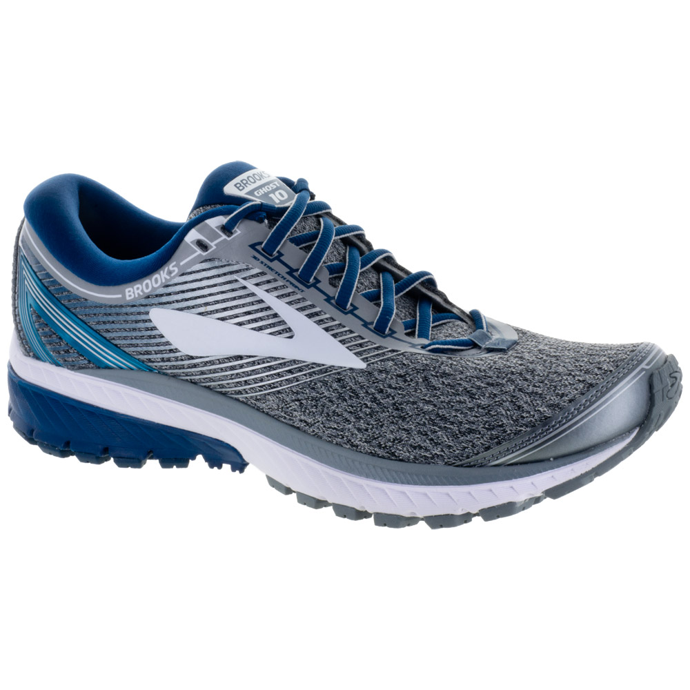 Brooks Ghost 10: Brooks Men's Running Shoes Silver/Blue/White