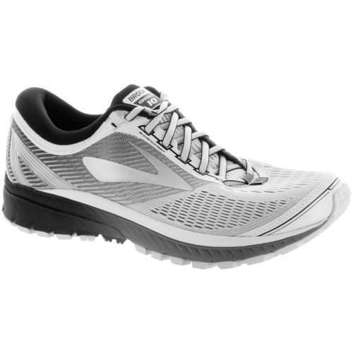 Brooks Ghost 10: Brooks Men's Running Shoes White/Silver/Black