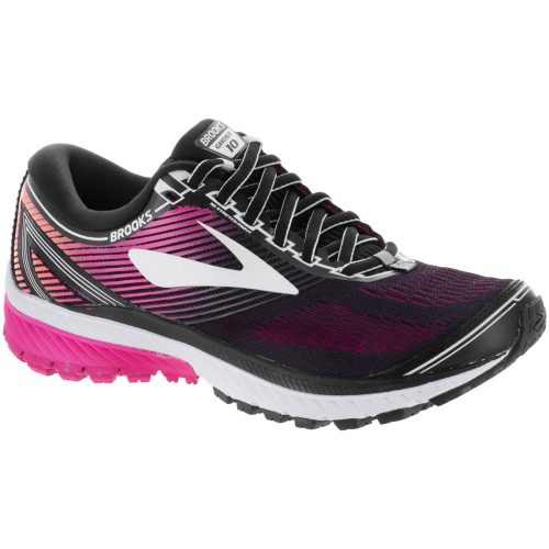 Brooks Ghost 10: Brooks Women's Running Shoes Black/Peacock/Living Coral
