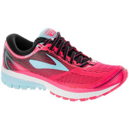 Brooks Ghost 10: Brooks Women's Running Shoes Diva Pink/Black/Iceland Blue