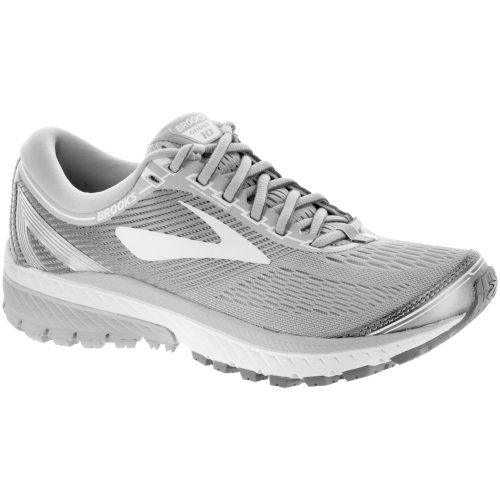 Brooks Ghost 10: Brooks Women's Running Shoes Microchip/White/Metallic Charcoal