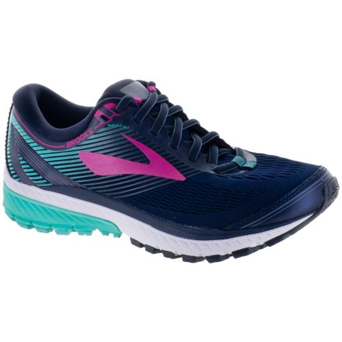 Brooks Ghost 10: Brooks Women's Running Shoes Navy/Pink/Teal Green