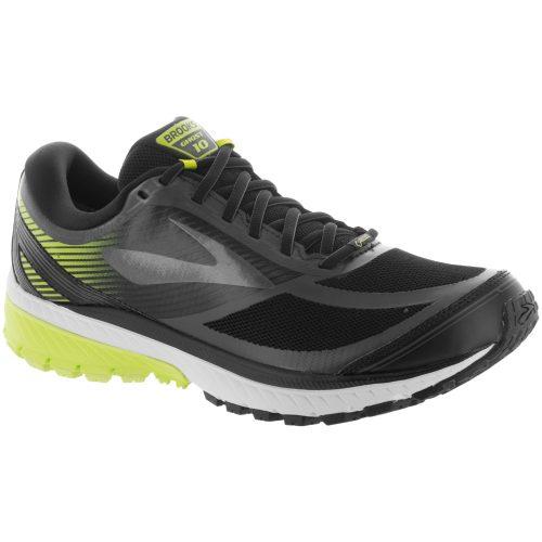 Brooks Ghost 10 GTX: Brooks Men's Running Shoes Black/Ebony/Lime Popsicle
