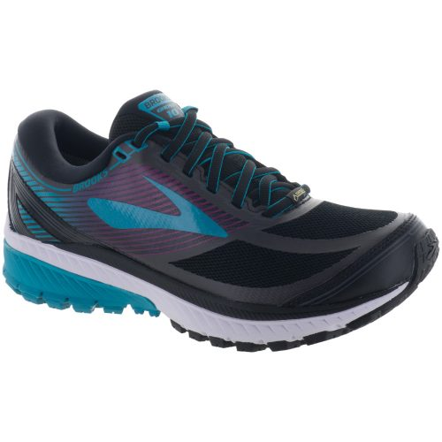 Brooks Ghost 10 GTX: Brooks Women's Running Shoes Black/Peacock Blue/Hollyhock