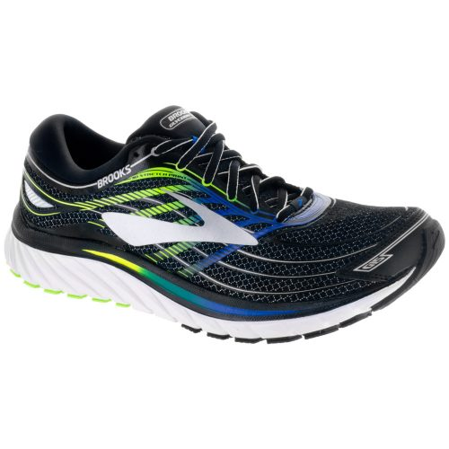 Brooks Glycerin 15: Brooks Men's Running Shoes Black/Brooks Electric Brooks Blue/Green Gecko